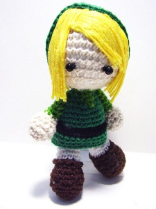 An adorable crochet Link from oddgumi on Flickr.